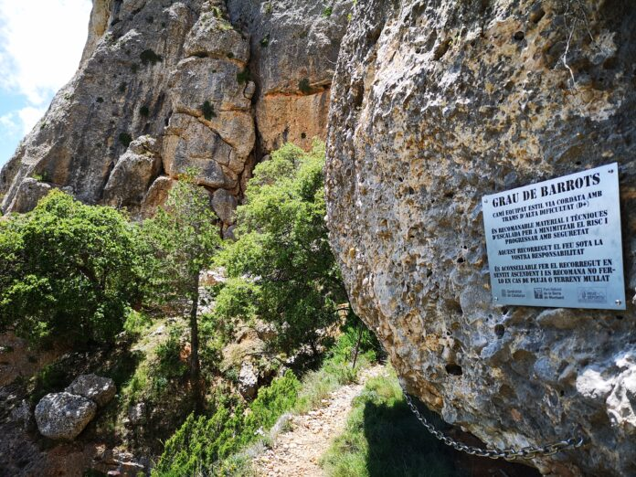 Finalitza la remodelació dels Graus de Barrots, Carresclet i Carbassal, al Parc Natural de Montsant