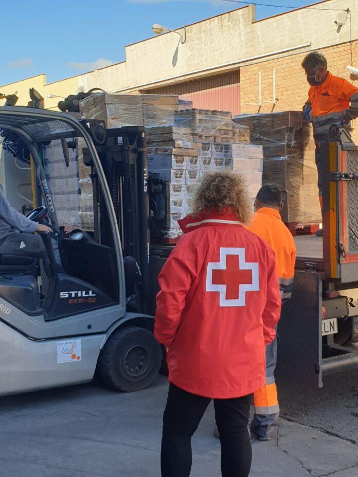 Creu Roja Salou rep 6 tones d'aliments del Fondo de Ayuda Europea para las Personas Más Desfavorecidas (FEAD), per repartir-los a 90 famílies vulnerables