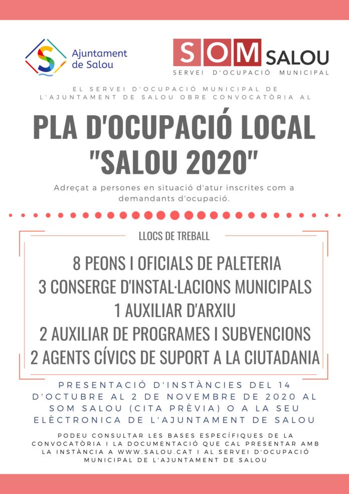Salou impulsa el nou Pla d'Ocupació Local extraordinari 'Salou 2020', que donarà feina a 16 persones del municipi