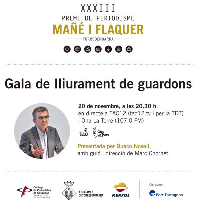 Es donen a conèixer els finalistes al Premi de Periodisme Mañé i Flaquer