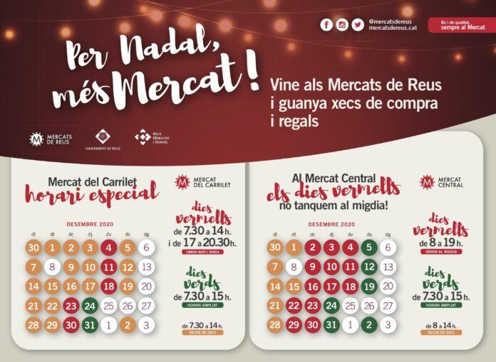 Els Mercats de Reus premien els clients amb regals i xecs de compra durant la Campanya de Nadal