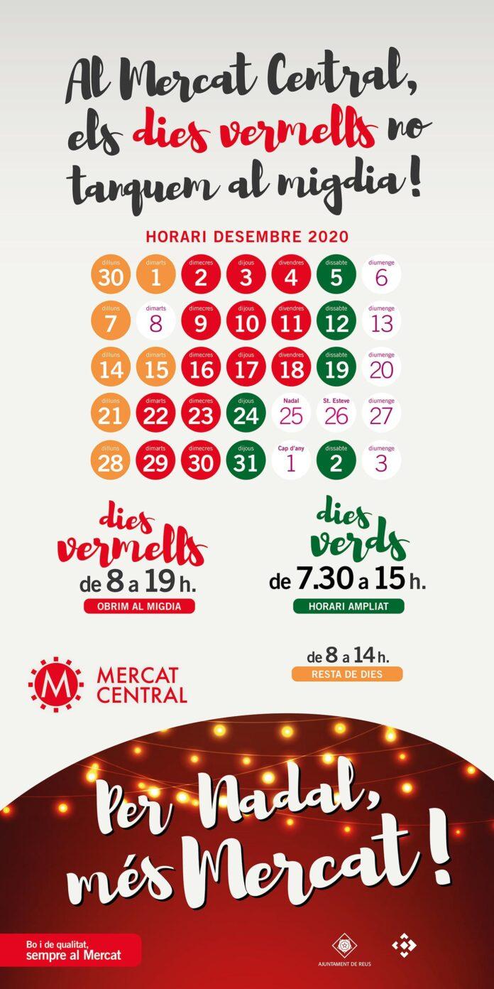 El Mercat Central comença l'horari especial de Nadal obrint tot el dia a partir del 2 de desembre