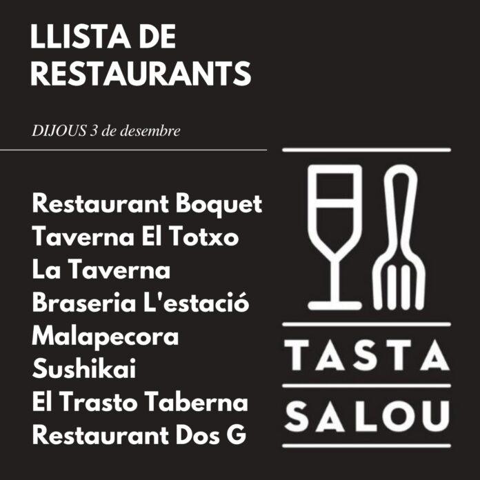Els establiments de Salou reprenen la ruta gastronòmica 'Tasta Salou'
