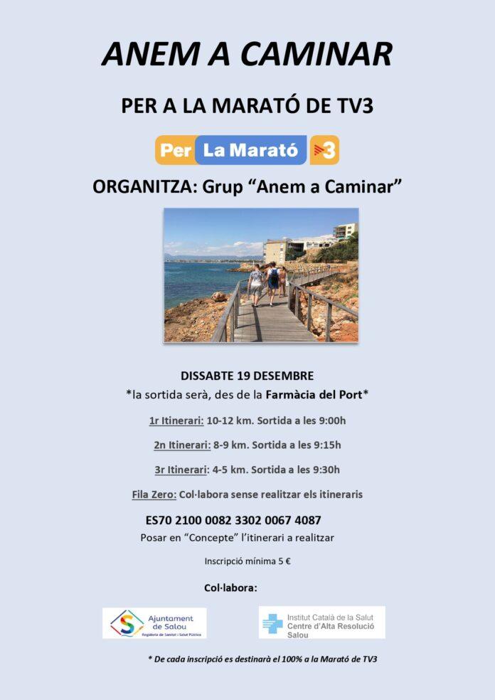 El grup 'Anem a Caminar' organitza una sortida per Salou, per recollir fons per a La Marató de TV3
