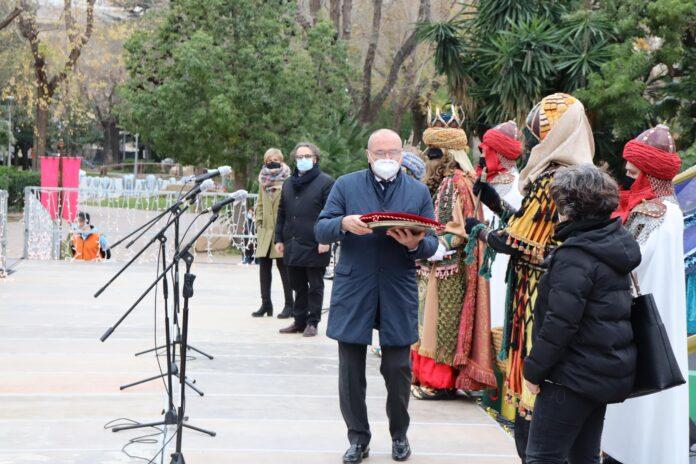 Els Reis d'Orient acampen al parc de Sant Jordi i ja tenen les claus de la ciutat