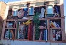 La Biblioteca Xavier Amorós llueix un gran mural a la façana lateral
