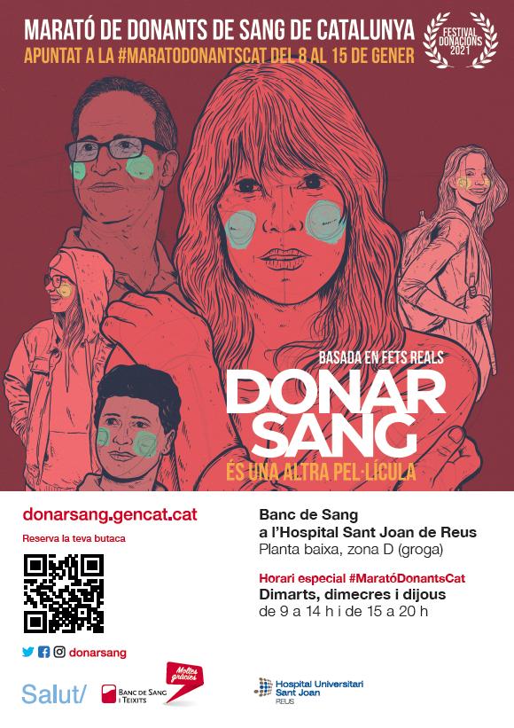 L'Hospital Universitari Sant Joan de Reus participa, a partir d'avui, a la Marató de Donants de Sang de Catalunya 2021