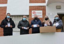 Salou dona 600 mascaretes solidàries, confeccionades a mà pel Grup de Dones, a Càritas Interparroquial