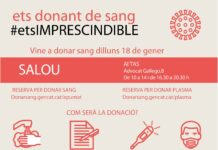 Salou acollirà una jornada de donació de sang i plasma aquest proper dilluns, dia 18 de gener