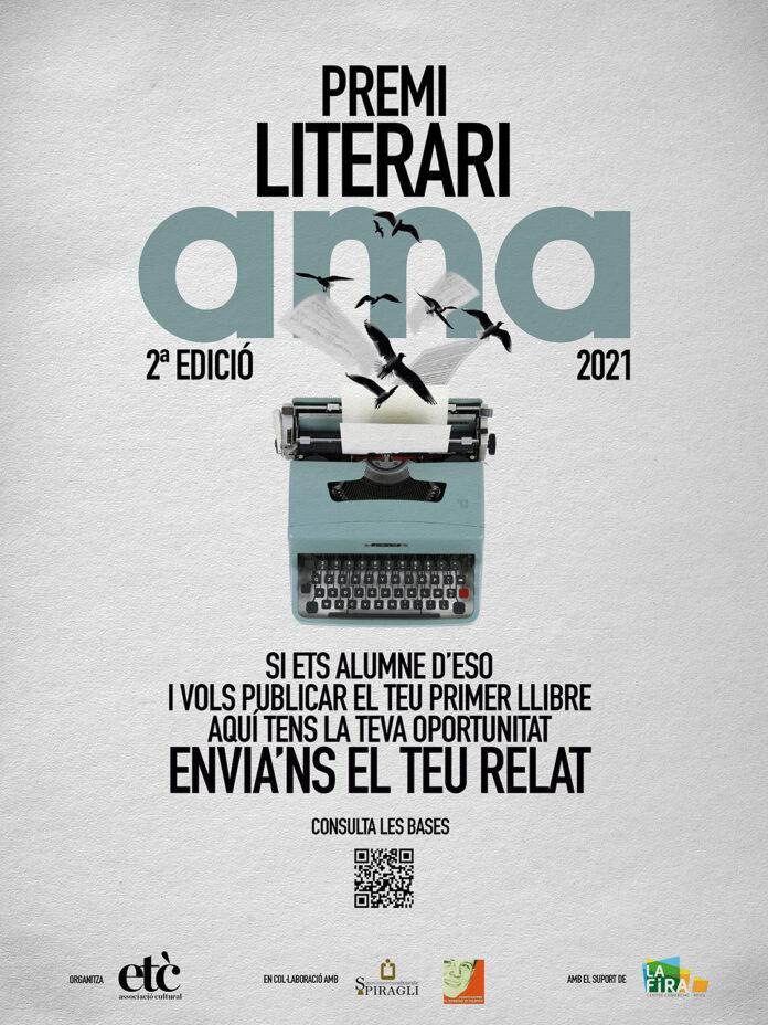 Es convoca la segona edició del Premi Literari AMA per als alumnes d'ESO de tot Catalunya