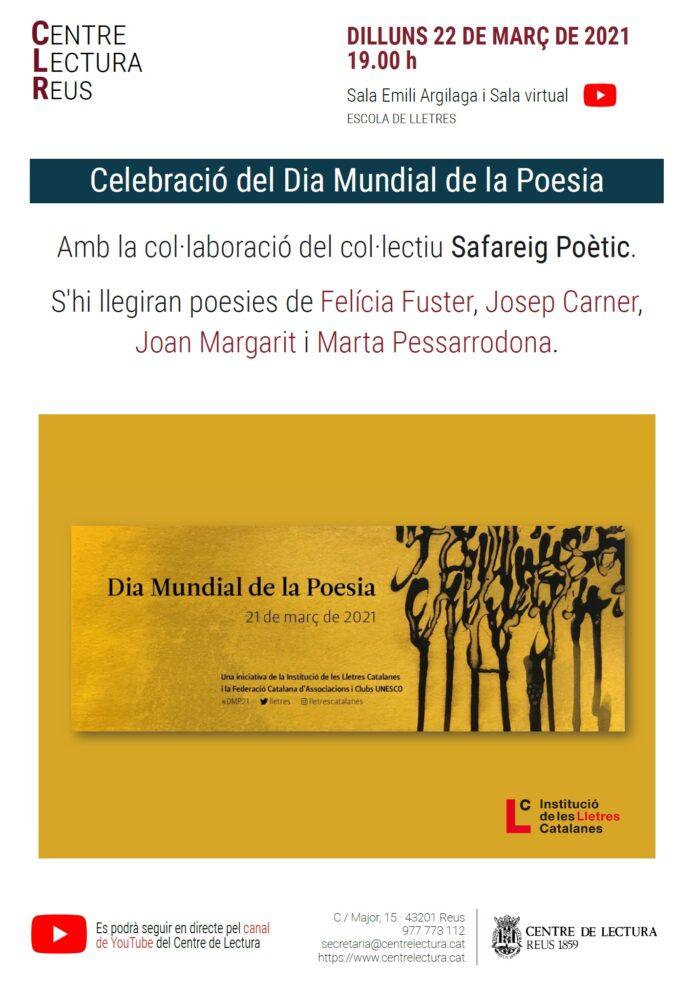 El Dia Muncial de la Poesia al Centre de Lectura de Reus