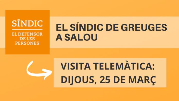 El Síndic de Greuges atendrà, de forma telemàtica, la ciutadania de Salou, aquest dijous, 25 de març